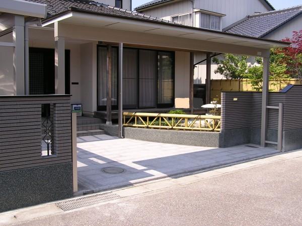 和風のこだわり塀と庭 富山市4