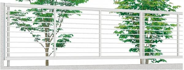 横桟の細いフェンス プレスタフェンス1型 LIXIL1