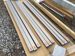 フェンスの柱加工 板塀