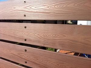 板塀の木目