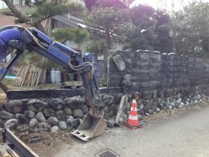 ブロック解体 石垣解体