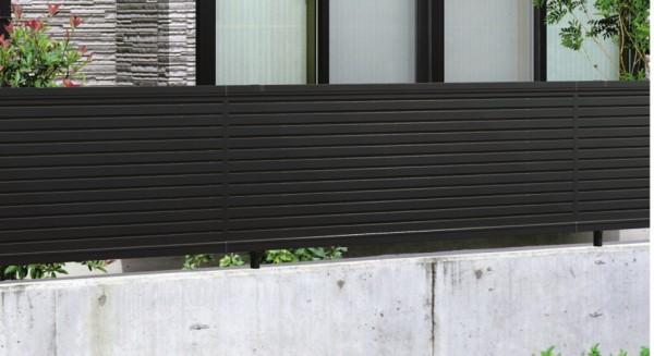 気品ある横目隠しフェンス エクモアX5型フェンス 三協アルミ1