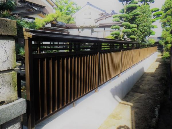 和風のお庭に合う大和塀フェンス 富山市1