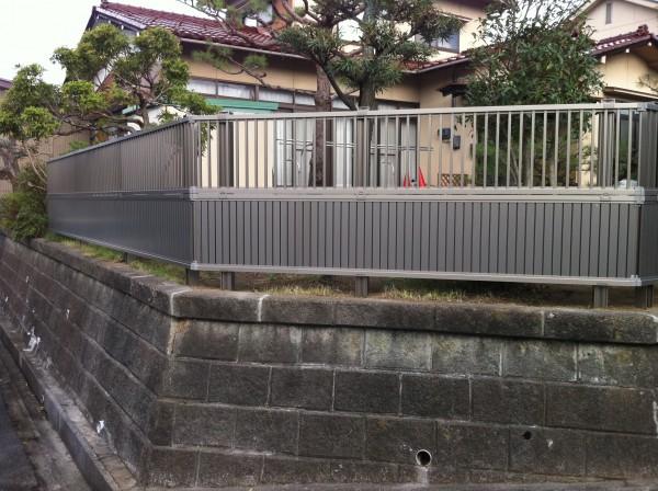 フェンス工事 富山市2