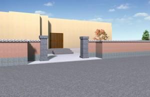 和風門、石門柱、カサヘイ