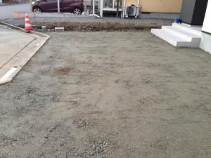 駐車場の鋤取り砕石工
