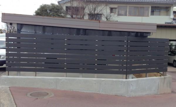 樹脂製の板塀フェンス  富山7