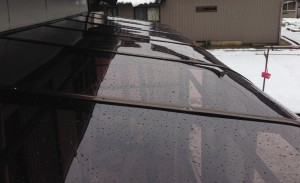 ポリカーボネートの屋根