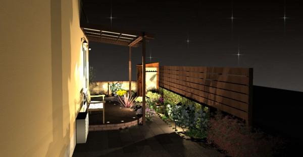 夜のお庭のご提案