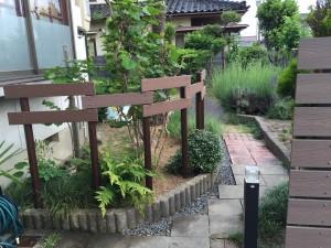 ガーデンフェンスとパーゴラ 富山市2