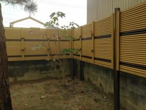 虎竹のラインがとってもきれいな竹垣工事 富山市3