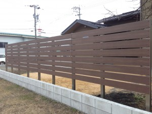 樹脂板塀張り工事 富山市