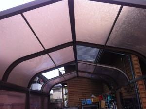 カーポートの屋根補修
