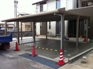 3台用カーポートとコンクリート工事 魚津市3