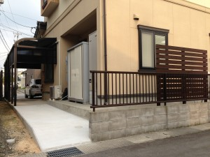 テラスコンクリート工事 富山