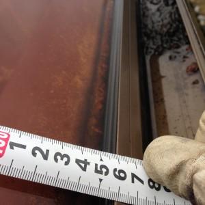 サンルームテラス屋根寸法を測る