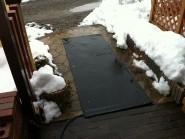 融雪マット 玄関前のロードヒーティング
