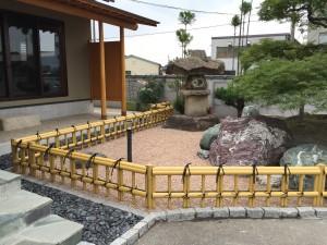 和風のお庭によくあう金閣寺垣フェンス 富山市3