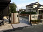 ソリッドストーンの門まわり 富山市