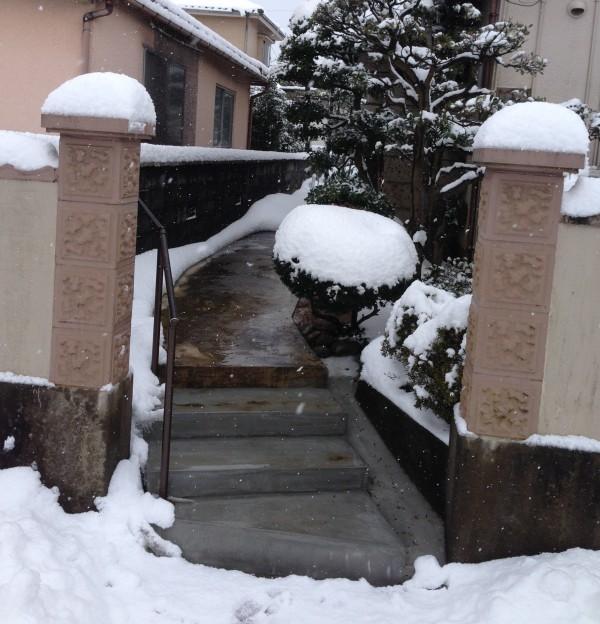 除雪の負担を軽く 階段ヒーター工事 富山7