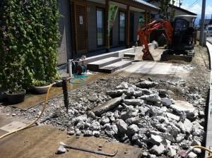 コンクリート解体作業 滑川市