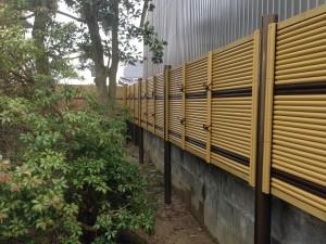 虎竹のラインがとってもきれいな竹垣工事 富山市2