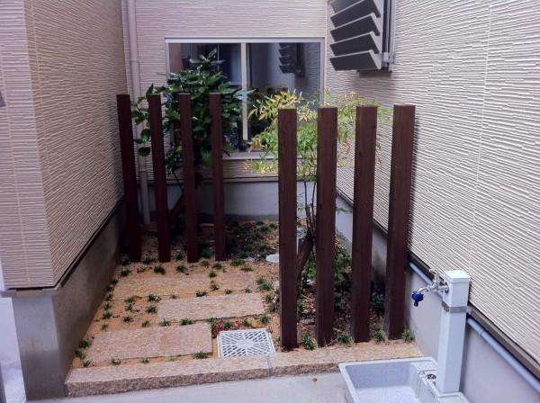 塗り壁と樹脂洗い出しのアプローチ 富山市4