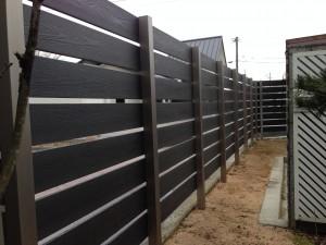 樹脂製の板塀フェンス  富山2