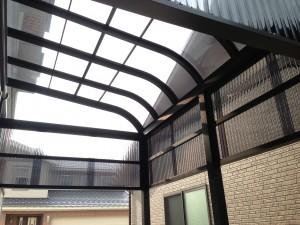 テラス屋根補強