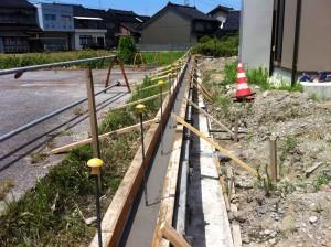 型枠組コンクリート打設