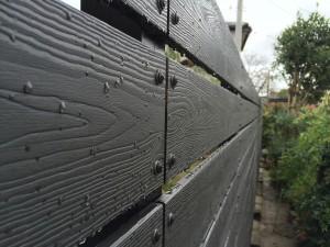樹脂板塀 ダーク