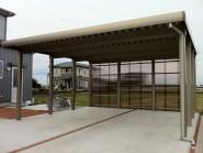 目隠し板塀フェンスと駐車場コンクリート工事 富山