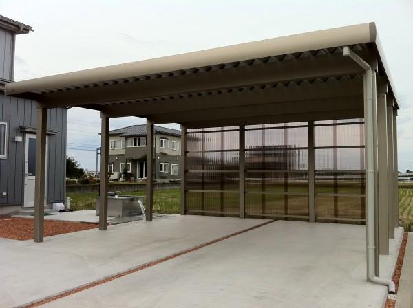 目隠し板塀フェンスと駐車場コンクリート工事 富山1