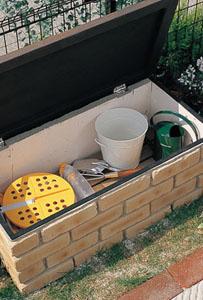 収納付ステップ&ベンチ ガーデンベンチ ニッコー2