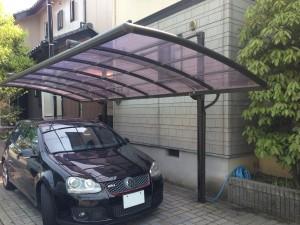 上吊り式カーポート屋根の張替前