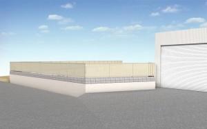 板塀のような目隠しフェンス シャトレナフェンス3