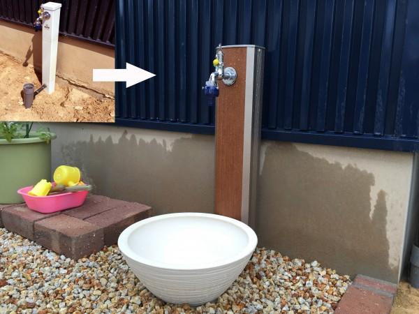 リフォーム対応のおしゃれな水栓カバー ニッコー 1