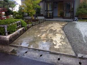 和風のアプローチ 富山