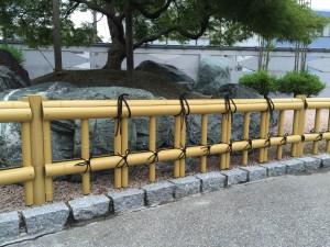 和風のお庭によくあう金閣寺垣フェンス 富山市2