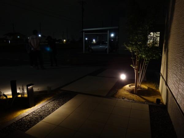 シルエットを利用した灯り 高岡市T宅1