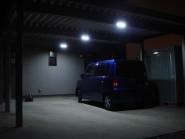 LEDライトでカーポートを明るく 高岡市