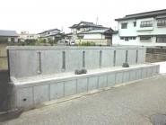 コンクリートの打ち放し塀 富山市