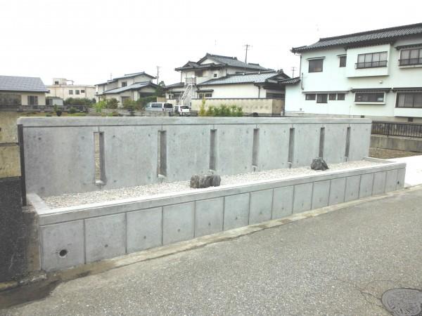 コンクリートの打ち放し塀 富山市1