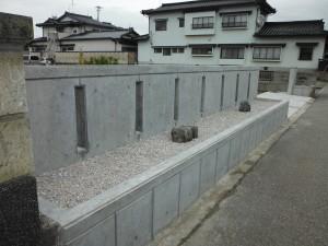コンクリートの打ち放し塀 富山市3