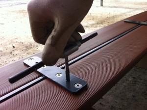 ベンチの背板