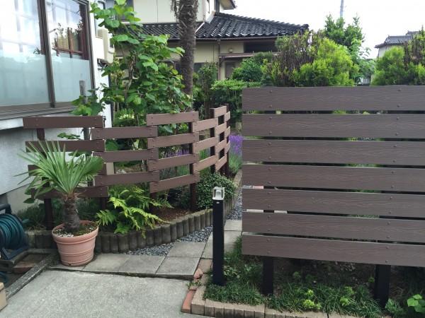 ガーデンフェンスとパーゴラ 富山市7