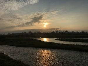 梅雨明け後の富山市