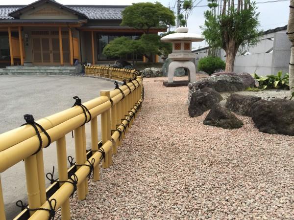 和風のお庭によくあう金閣寺垣フェンス 富山市4