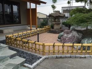 金閣寺垣のユニットフェンス