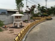和風のお庭によくあう金閣寺垣フェンス 富山市